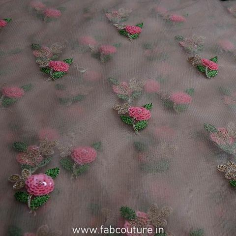 Net Rose Motif Embroidery