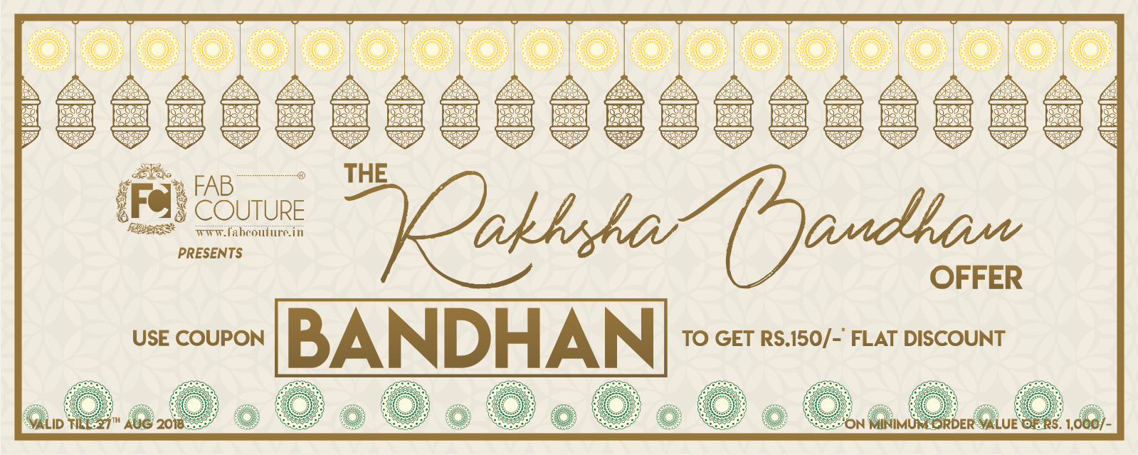 The Raksha Bandhan Offer by FabCouture