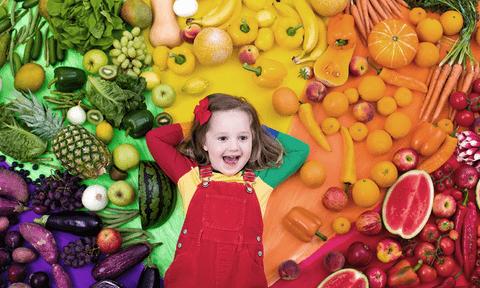 Rainbow colour Vegetarian Diet for Kids