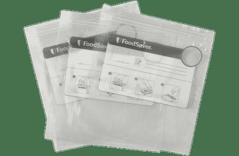 35 x FoodSaver Reusable Vacuum Zipper Bags - White