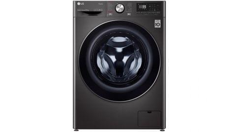 10kg Front Load Washing Machine Black Steel