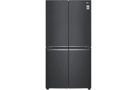 730L French 4 Door Fridge - Matte Black