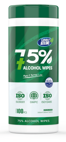 12 packs of 100 alcohol wipes (75%) -
