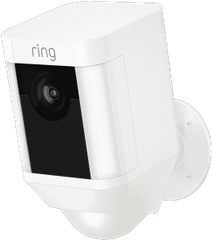 RING Spotlight Wi-Fi Battery Cammera - White
