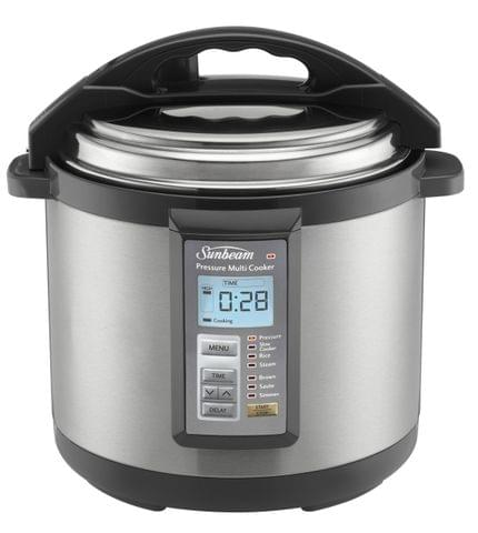 SUNBEAM 6L Aviva Multi Cooker - Brushed Stainless Steel (PE6100)