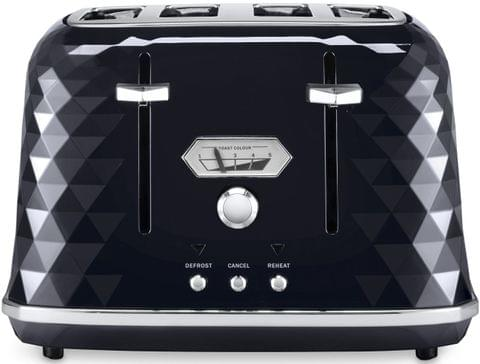 DELONGHI Brillante 4 Slice Toaster - Black (CTJX4003BK)