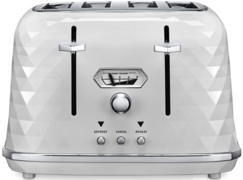 DELONGHI Brillante 4 Slice Toaster - White (CTJX4003W)