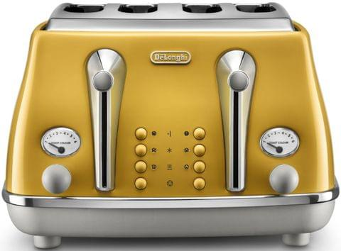 DELONGHI Icona Capitals 4 Slice Toaster - Yellow (CTOC4003Y)