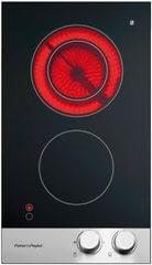F&P 30cm 2 Element Classic Black Ceran Cooktop S/S (CE302CBX1)
