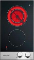 F&P 30cm 2 Element Classic Black Ceran Cooktop S/S