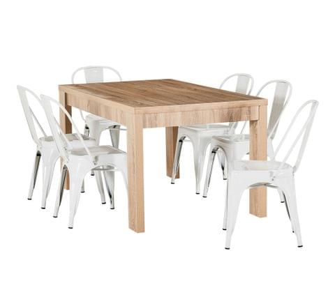 Havana 7 Piece Dining Set with Tolix Chairs