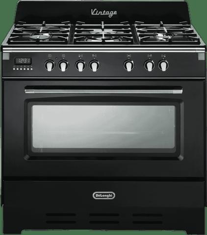 DeLonghi 90cm Dual Fuel Upright Cooker (DEFV908BK)