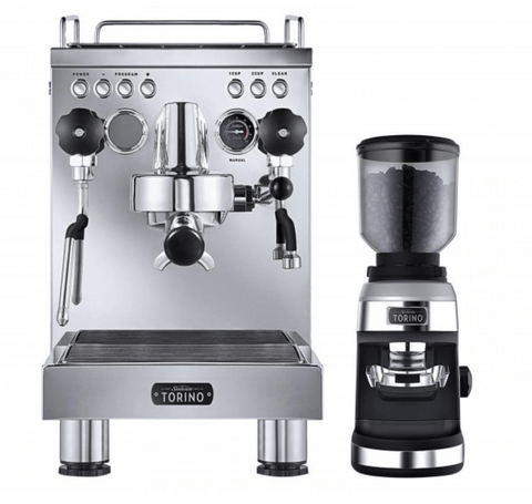 Sunbeam Torino Espresso Machine and Grinder - Stainless Steel