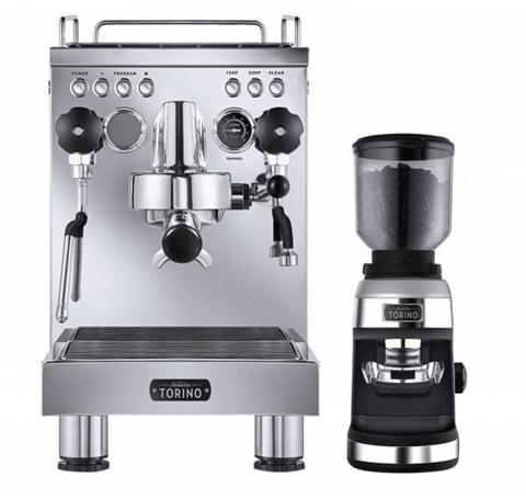 Sunbeam Torino Espresso Machine and Grinder - Stainless Steel