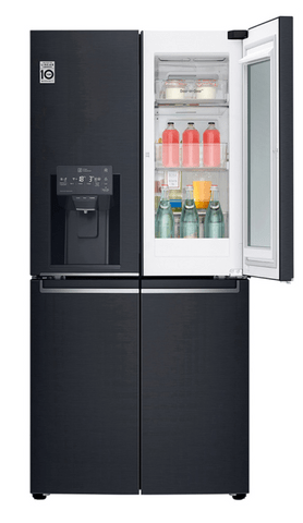 LG 570L Slim French Door Fridge InstaView Matte Black