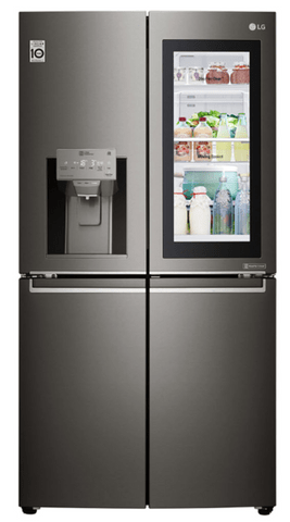 LG 708L French Door Fridge Ice & Water Black S/S