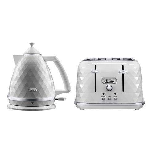 Brillante 1.7 Litre Kettle & 4 Slice Toaster Pack - White