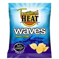 Tropical Heat Salt & Vinegar Waves Crisps 125g