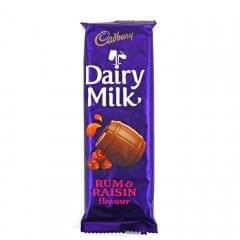 Cadbury Rum & Raisin Dairy Milk Chocolate 80g
