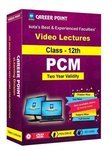 Video Lectures for JEE Mains & Adv | PCM (Class 12th) | Validity 2 Yrs | Medium : Mixed Language(E& H)