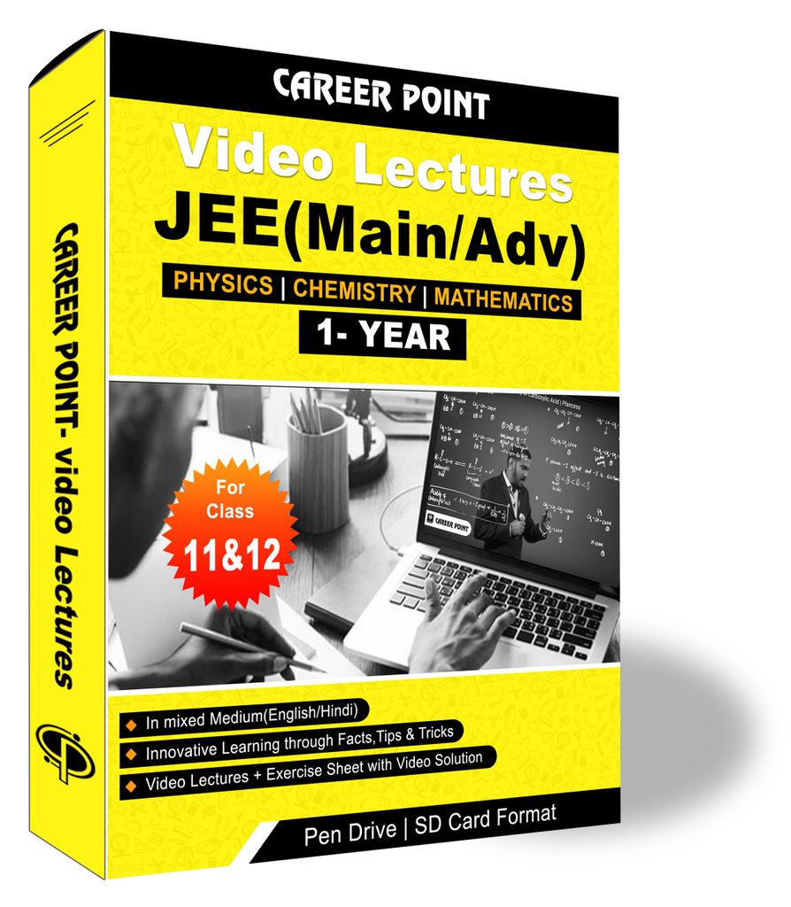 Video Lectures for JEE Mains & Adv | PCM (11th+12th) | Validity 1 Yr | Medium : Mixed Language (E & H)