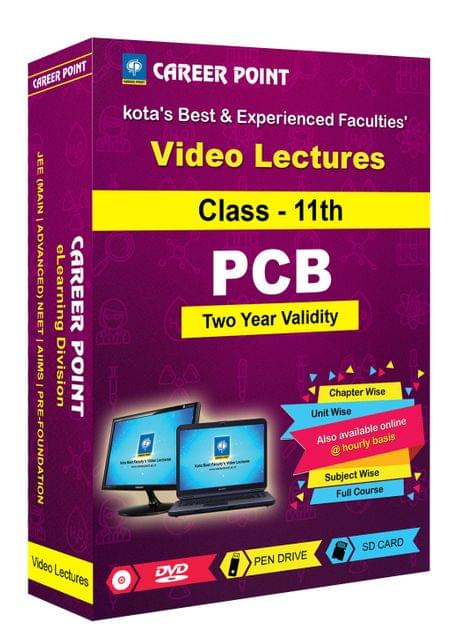 Video Lectures for NEET & AIIMS | PCB (Class 11th) | Validity 2 Yrs | Medium : Mixed Language-E/H