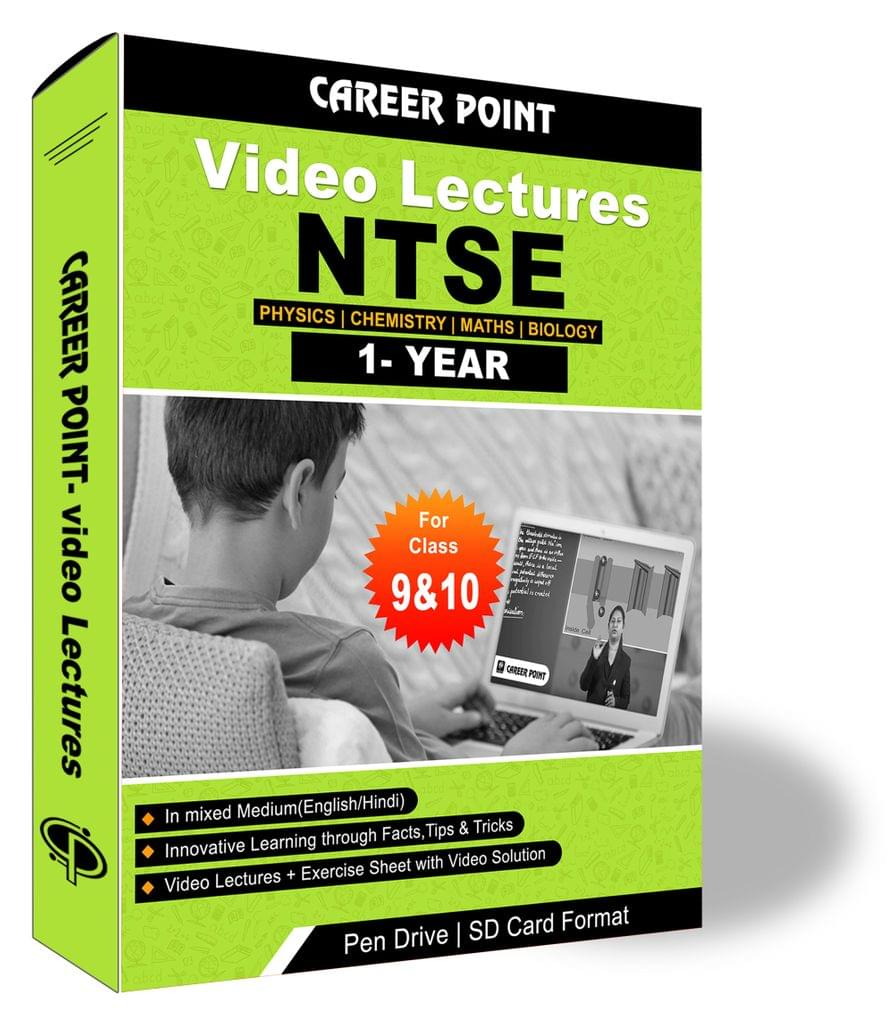 Video Lecture for NTSE    Validity: 1 yr   Covers PCMB Class 9 & 10   Medium Mixed Language (E&H)