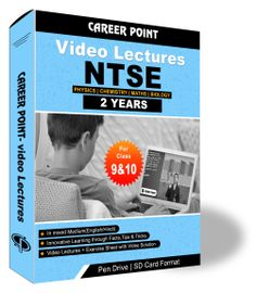 Video Lecture for NTSE    Validity: 2 yrs   Covers: PCMB Class 9 & 10   Medium: Mixed Language (E&H)