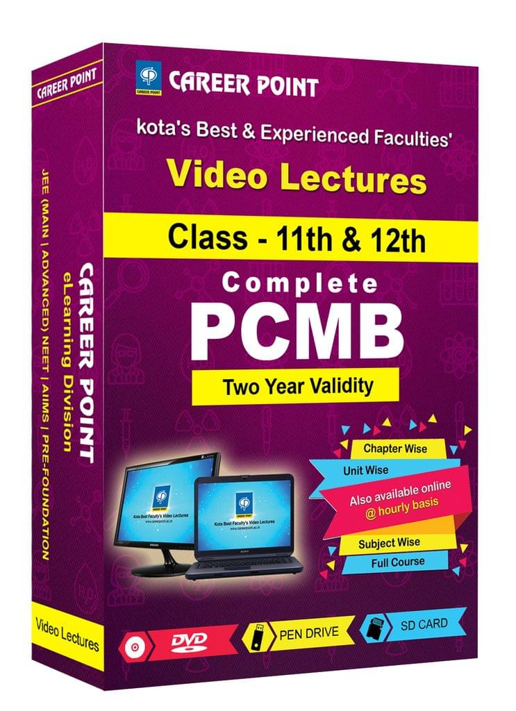 PCMB (11th+12th) for 2 Yrs Video Lectures(Mixed Language-E/H)