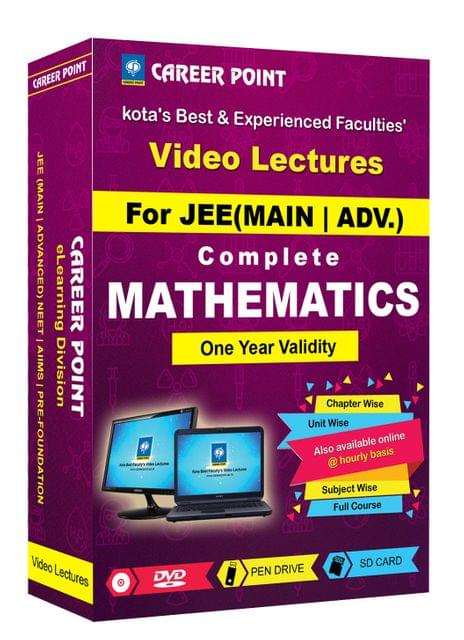 Mathematics (11th+12th) for 1 Yr Video Lectures JEE Mains / Adv(Mixed Language-E/H)