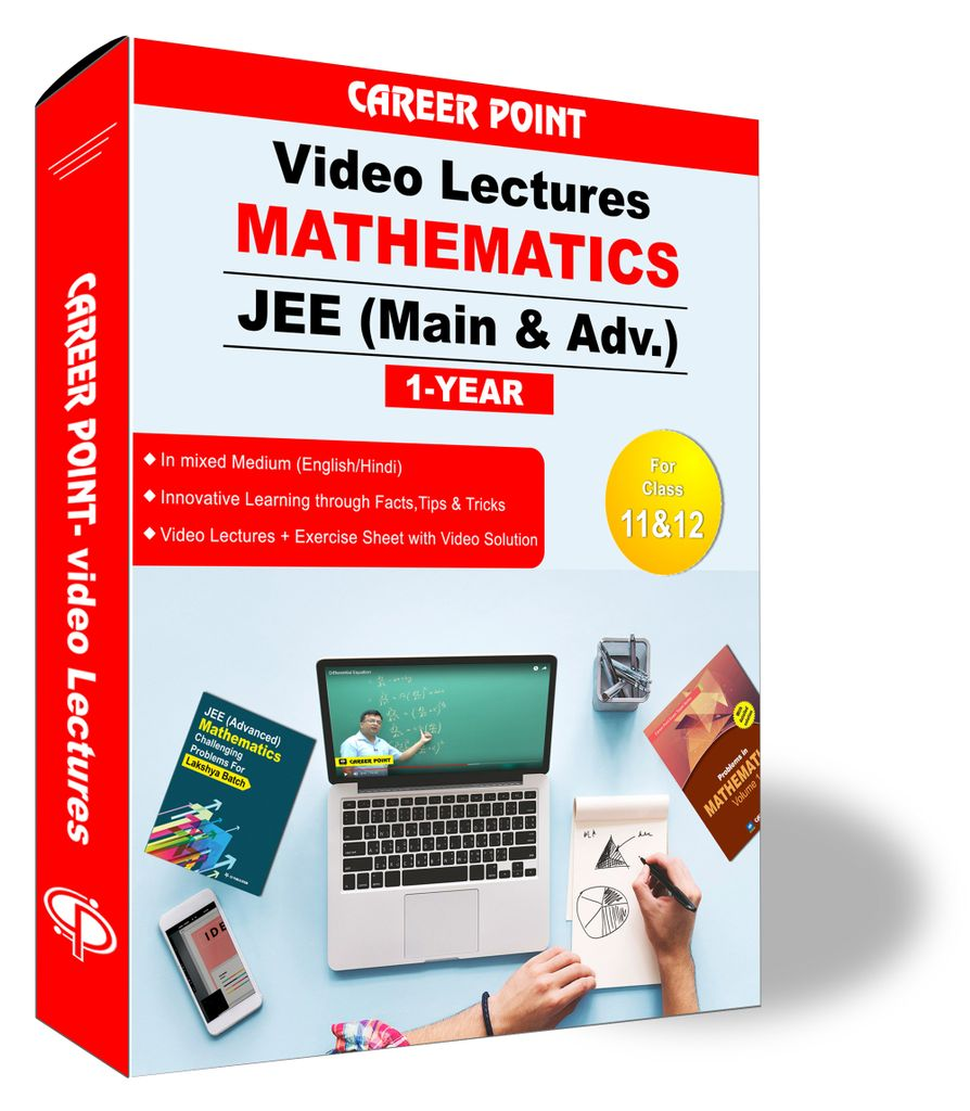 Mathematics Video Lectures (11th+12th) | JEE Main & Advanced  | Validity 1 Yr | Medium : Mixed Language (E & H)