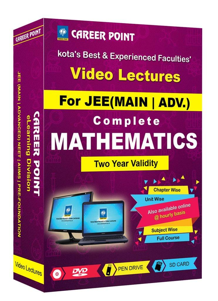 Complete Mathematics (2 Yrs) Video Lectures JEE (Main/Advance) in Mixed Language(E/H) By Career Point Kota