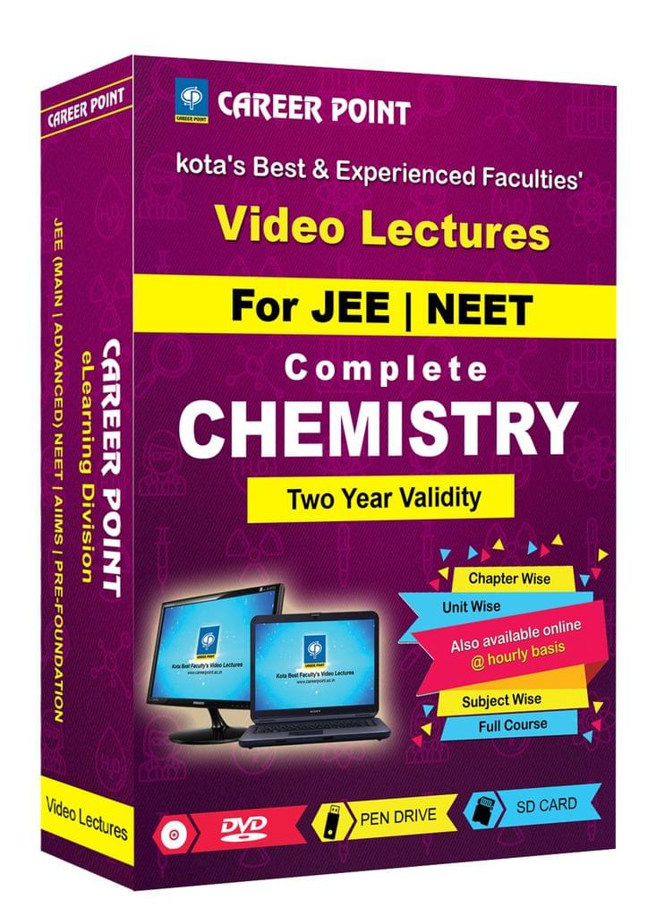 Chemistry (11+12th) for 2 Yrs Video Lectures JEE & NEET(Mixed Language-E/H)