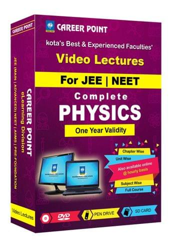 Physics (11+12th) for 1 Yr Video Lectures JEE & NEET(Mixed Language-E/H)