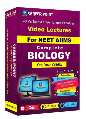 Biology (11+12th) for 1 Yr Video Lectures NEET(Mixed Language-E/H)