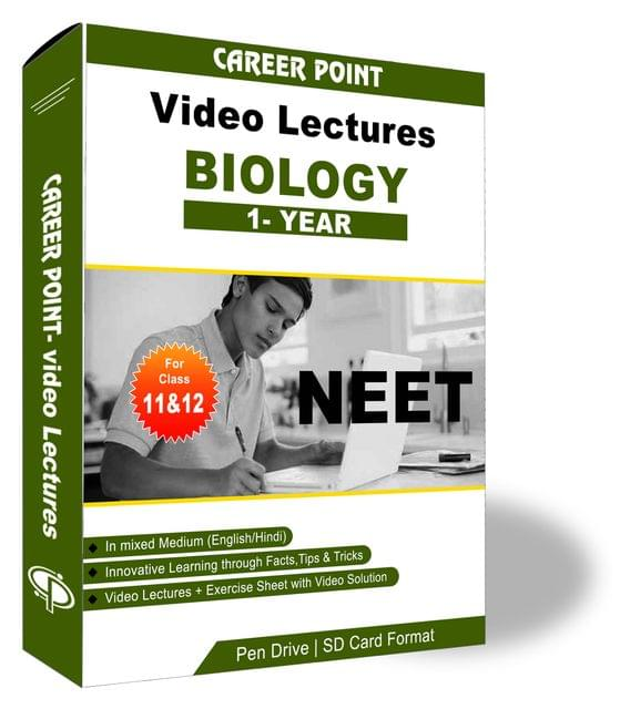 Biology Video Lectures (11th+12th) | NEET & AIIMS | Validity 1 Yr | Medium : Mixed Language (E & H)