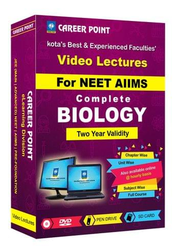 Biology (11+12th) for 2 Yrs Video Lectures NEET(Mixed Language-E/H)