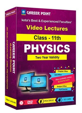 Class 11th Physics for 2 Yrs Video Lectures for JEE & NEET (Mixed Language-E/H)