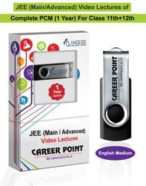 Complete PCM (1 Yr) Video Lectures for JEE (Main/Advance) for Class 11th+12th in English Medium