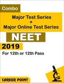 Combo: Major Test Series + Major Online Test Series NEET 2019 For 12th or 12th Pass