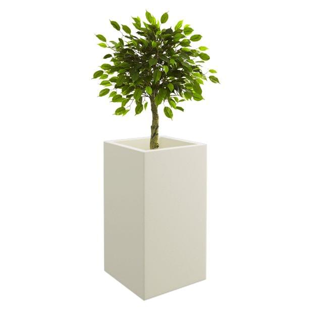 Cream White Square 30 Inches Bar Planter