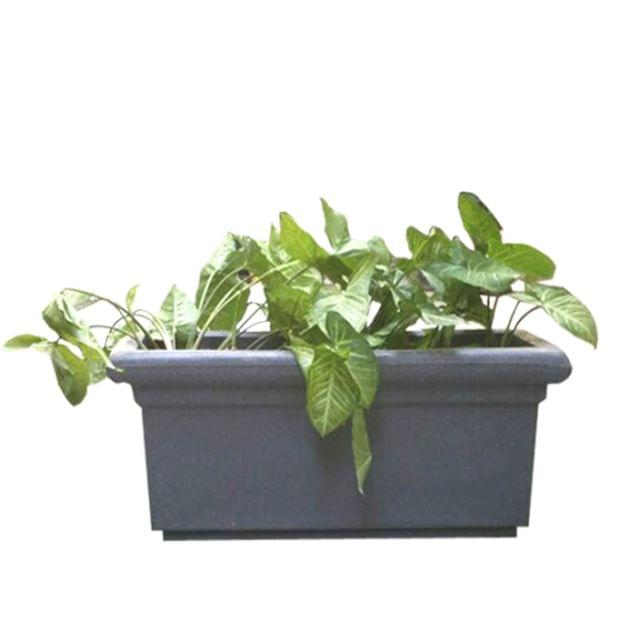 Yuccabe Italia FOX-B BT Grey Rectangular 26 Inches Planter