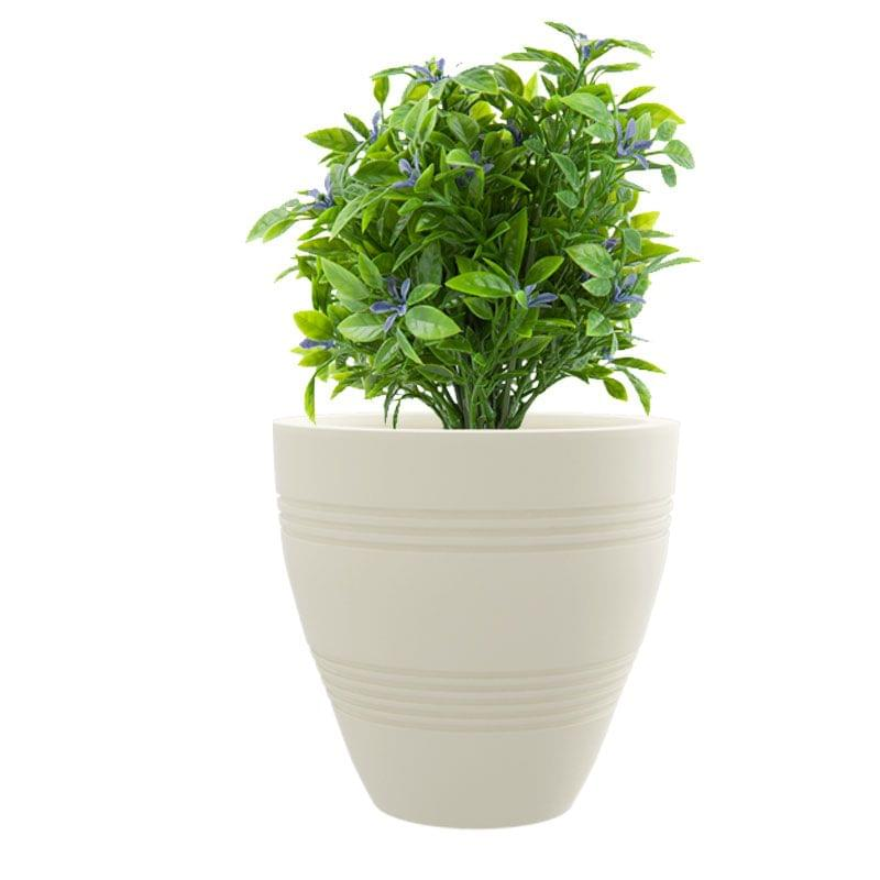 Cream White Ch-Cup 14 Inches Round Planter