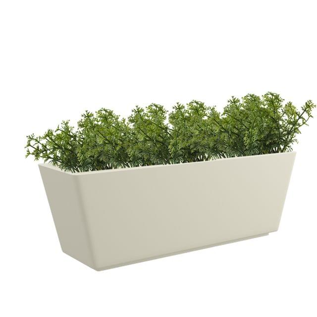 Cream White  Gk Tra 26x13 Inches Rectangular Planter