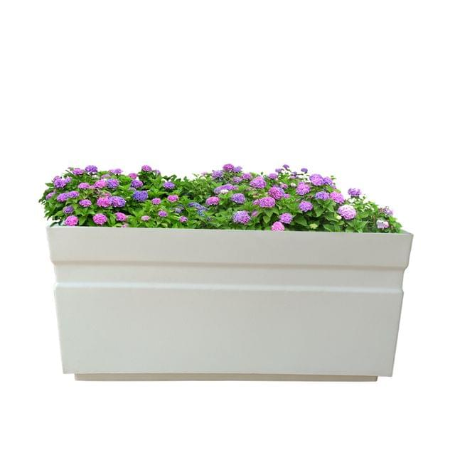 Yuccabe Italia FOX-B GT White Rectangular 24 Inches Planter