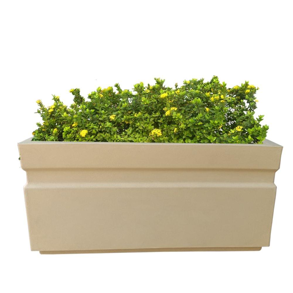 Yuccabe Italia FOX-B GT Beige Rectangular 36 Inches Planter