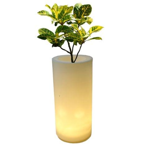 LED Cyl 30 Inches Planter
