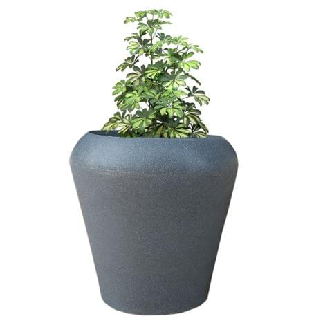 Yuccabe Italia FOX-B MAX Grey Round 15 Inches Planter