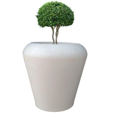 Yuccabe Italia FOX-B MAX White Round 15 Inches Planter