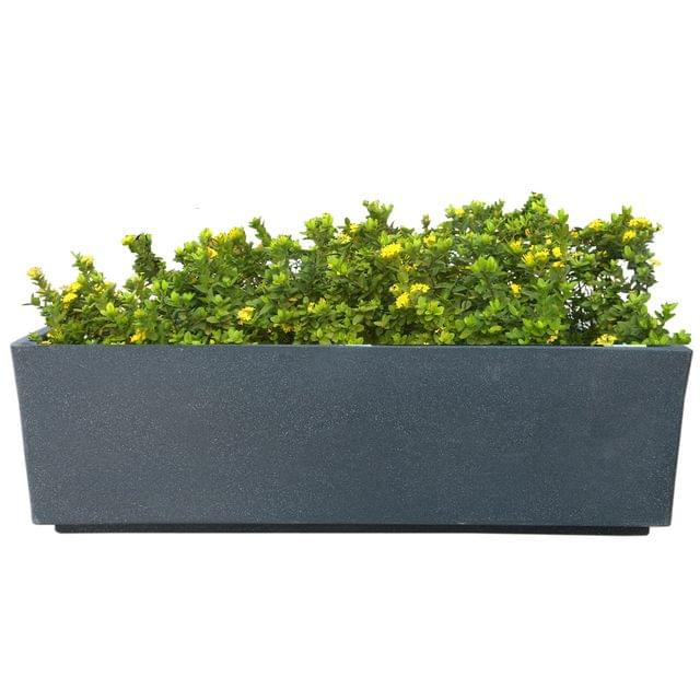 Yuccabe Italia FOX-B Box Tray Railing Hanging Rectangular Grey  24 Inches Planter